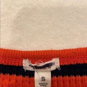 Orange and black long sleeve shirt